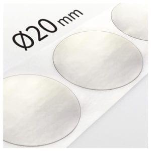 Kółka transparentne do zaklejania Ø20mm