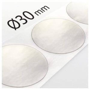 Kółka transparentne do zaklejania Ø30mm