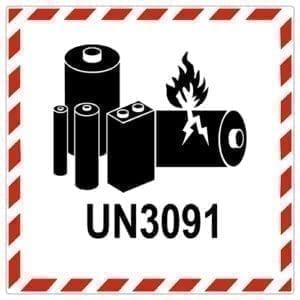 Etykieta samoprzylepna – ADR 9 UN Baterie i ogniwa